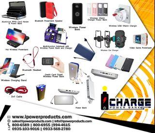 Power banks and cables (icharge brand) assorted designs and capacities