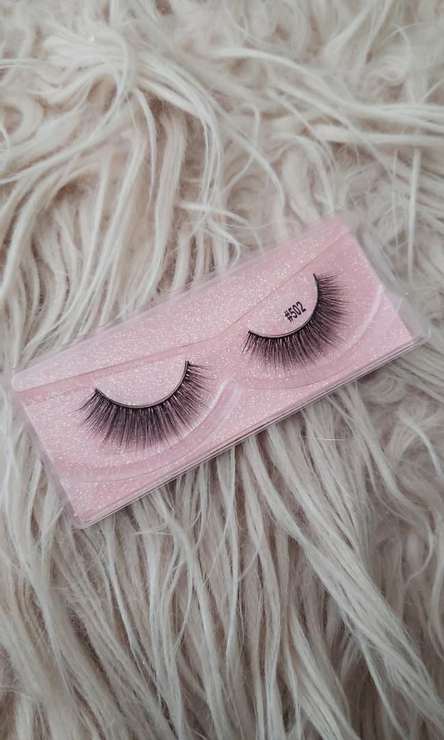 Real mink hair false eyelashes(HONEY) STYLE:#502