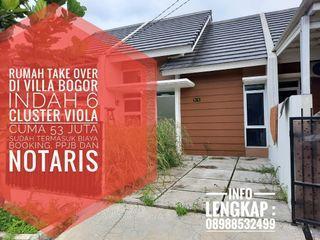 Rumah take over di perumahan villa Bogor indah cluster viola