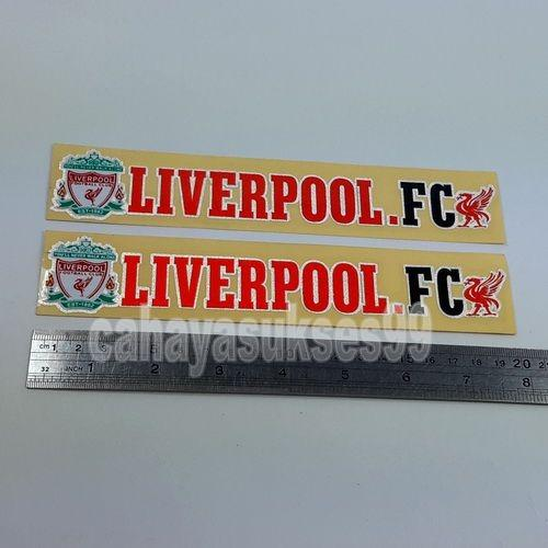 Sticker Cutting Klub Bola LIVERPOOL FCB Football Club Size 20cm x 3.5cm Stiker Body Motor Reflective Paket HEMAT PROMOSI 1set 2pcs