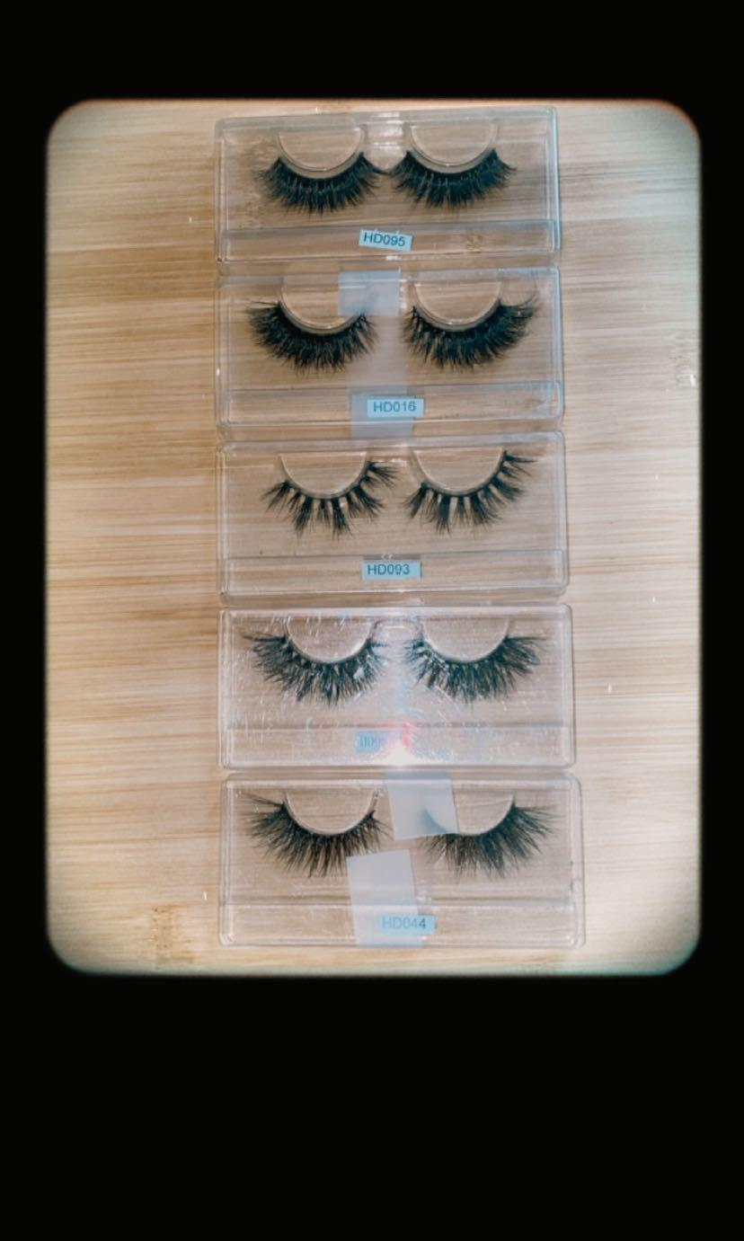 (x5) 3d lashes high quality set