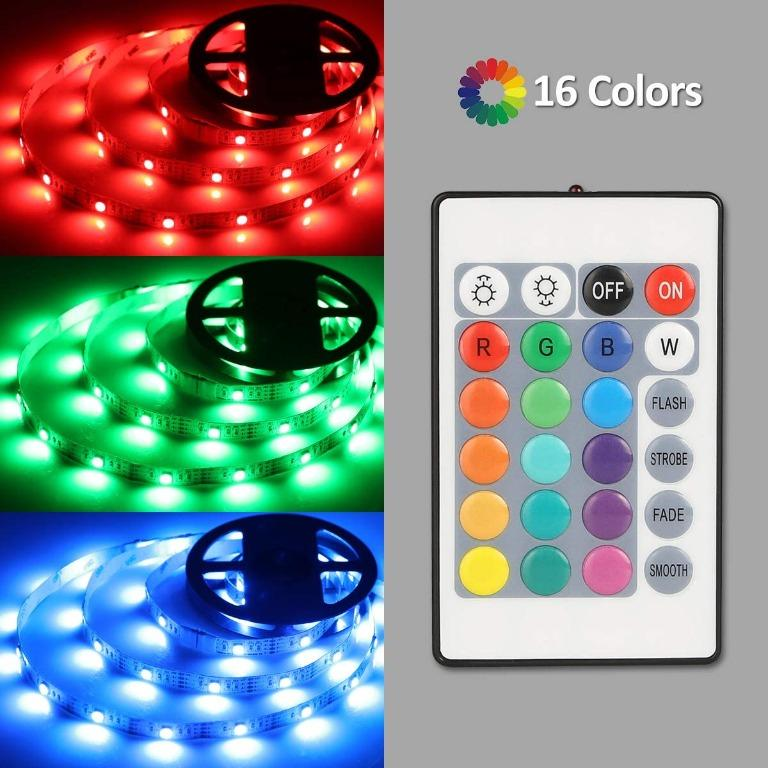 3ft Multi-Colour USB LED Light Strip With Remote Control