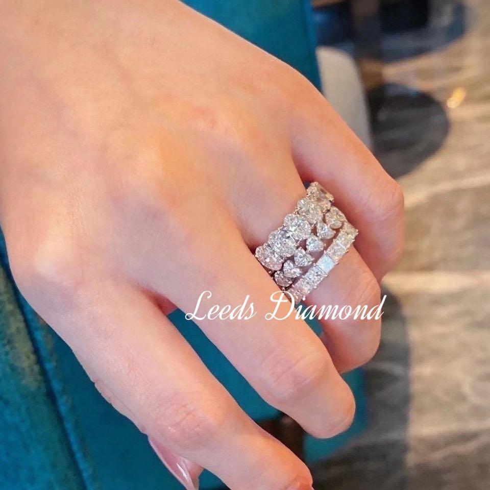 [Real HK Diamond] 留言報價 每盒六粒橢圓鑽石 用共爪式鑲嵌成18K戒指