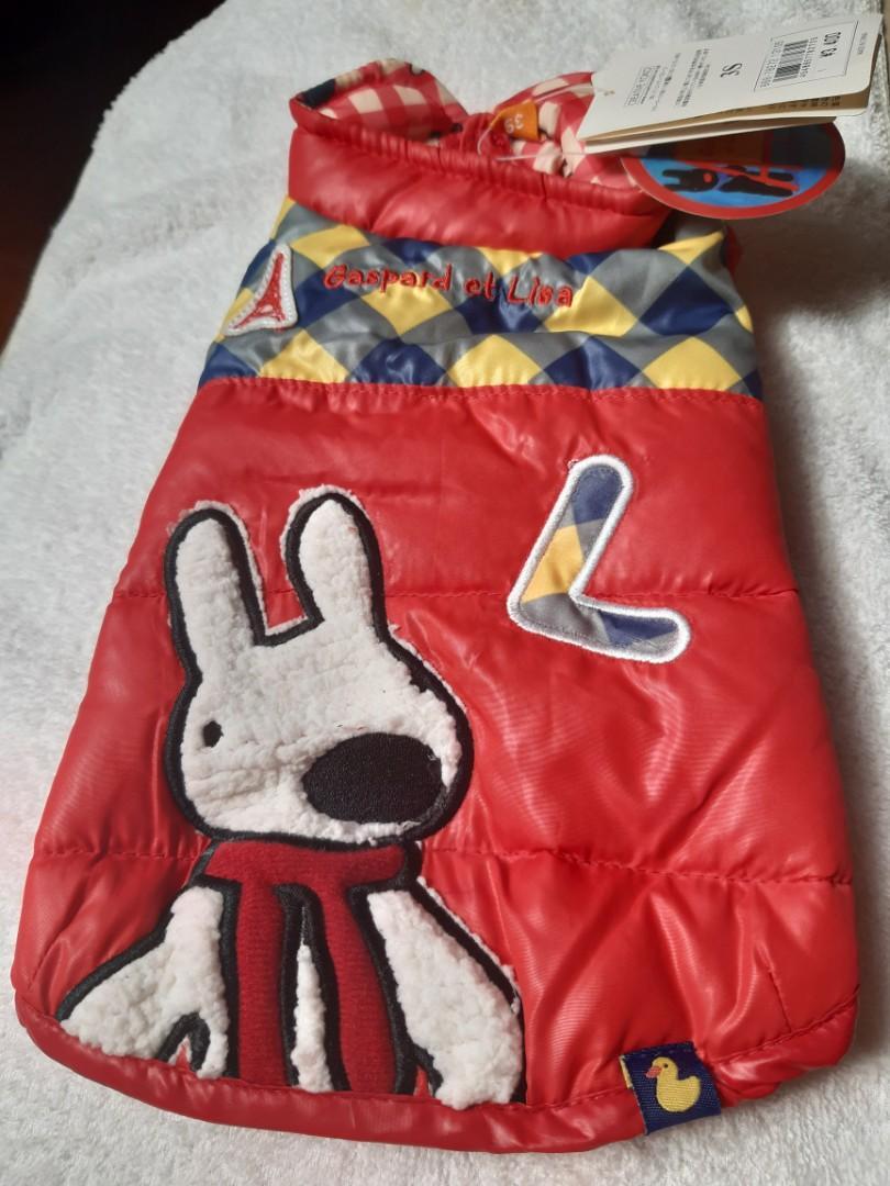 日本頂級寵物服飾 Pet Paradise 聯名 Gaspard et Lisa 防風鋪棉保暖外套