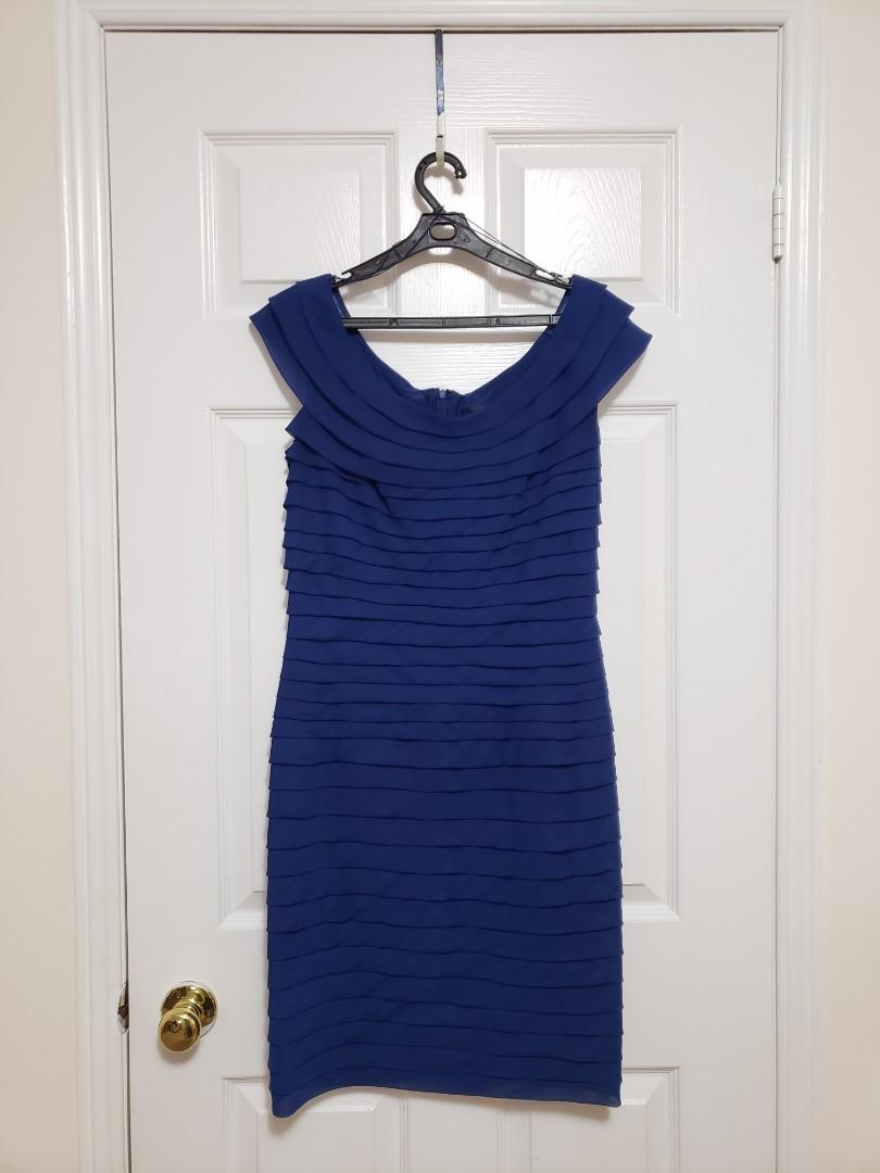 Adrianna Papell Royal Blue Dress
