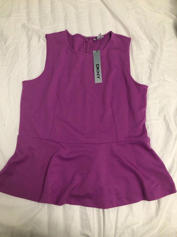 Dkny peplum top
