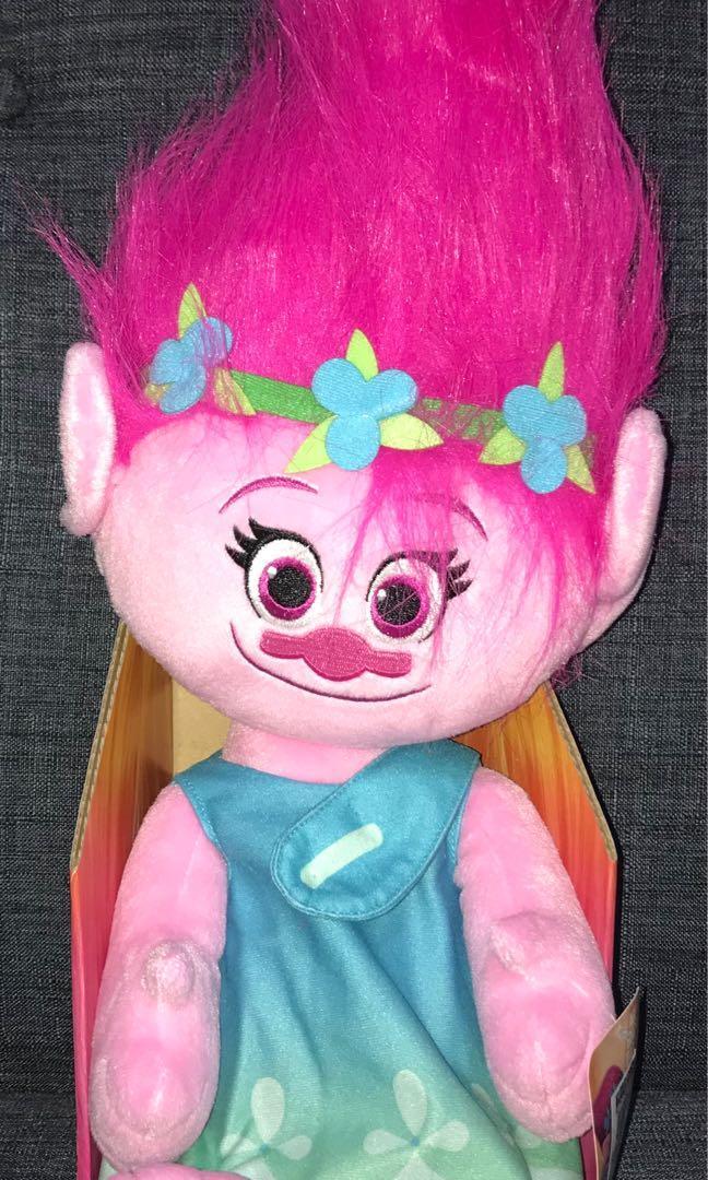 "BRAND NEW w Tags DreamWorks 9/"" Trolls Poppy Hug /'N Plush Doll Figure Toy Game"