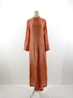 Dress batik viscose orange