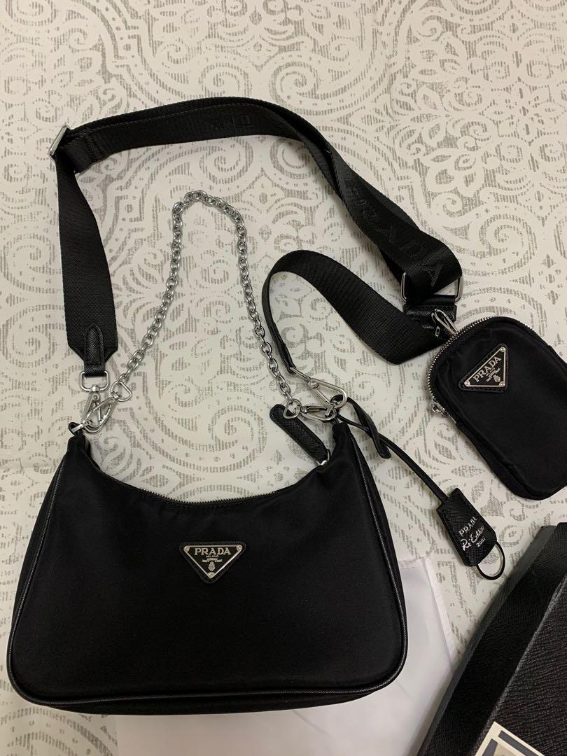 Inspired prada nylon purse