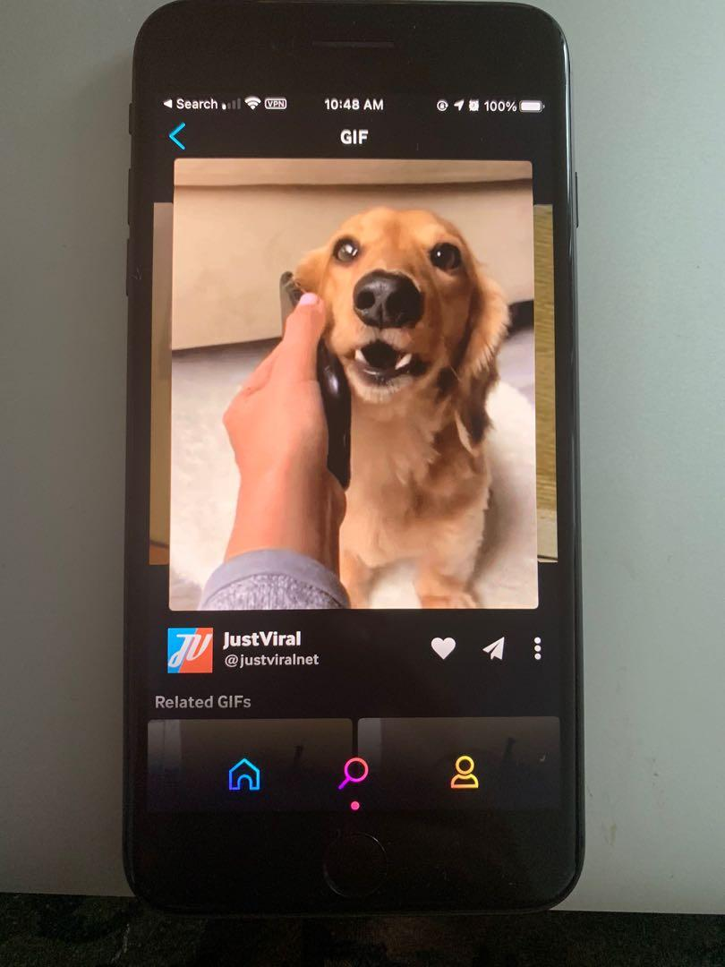 iPhone 8 Plus black 64 GB unlocked  with case