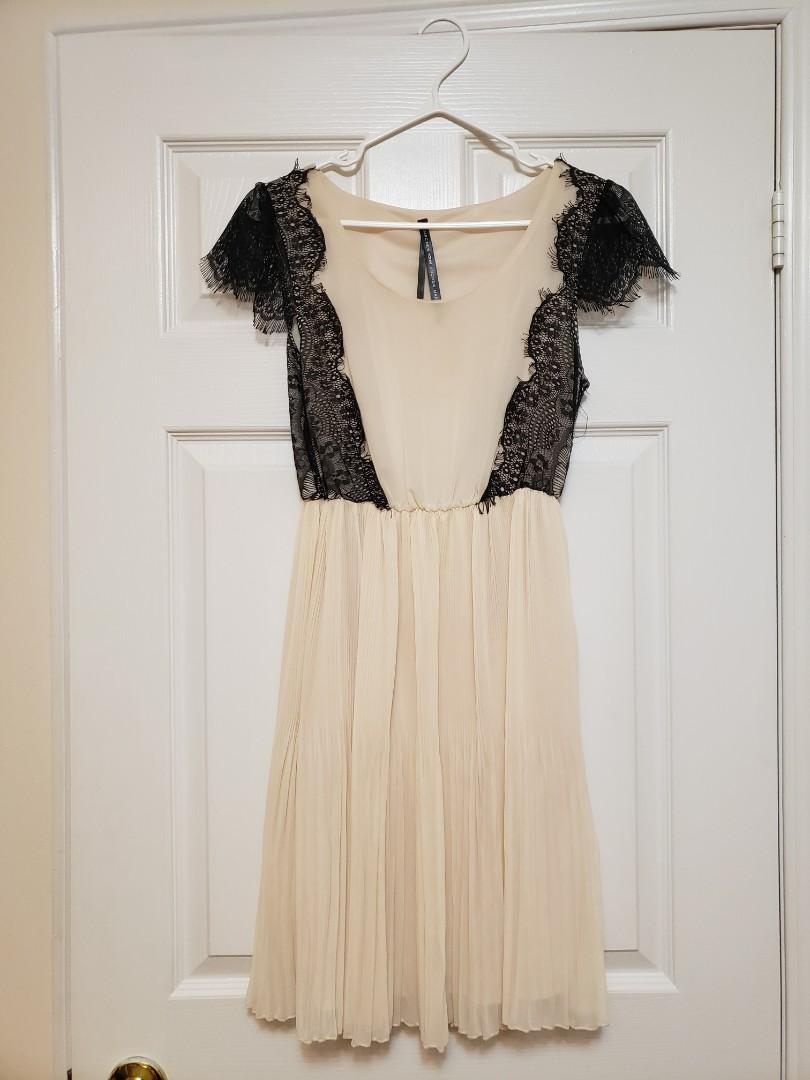 Marc New York Peach and Black Lace Dress