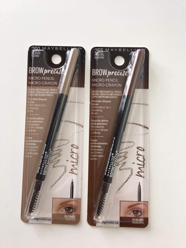 Maybelline New York Brow Precise Micro Pencil #250 Blonde #265 Auburn 60mg