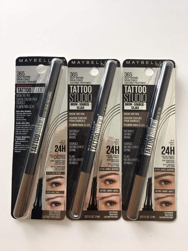 Maybelline New York Tattoo Studio Brow Tint Pen #365 Deep Brown 1.1ml