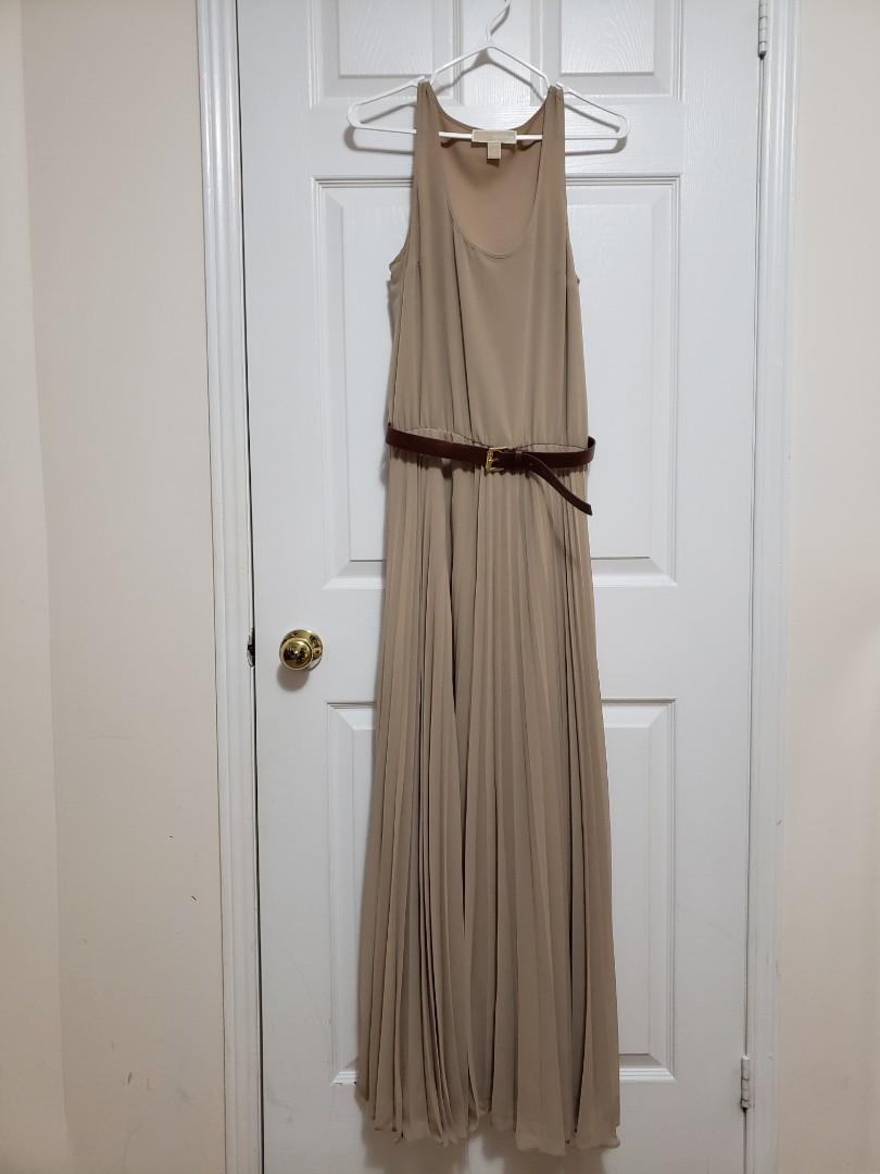 Michael Kors Kaki Maxi Dress
