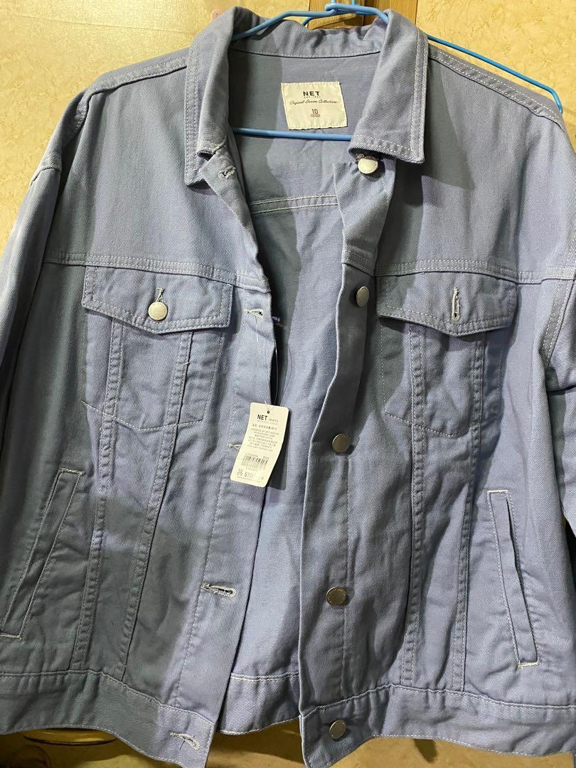 Net藍色牛仔外套