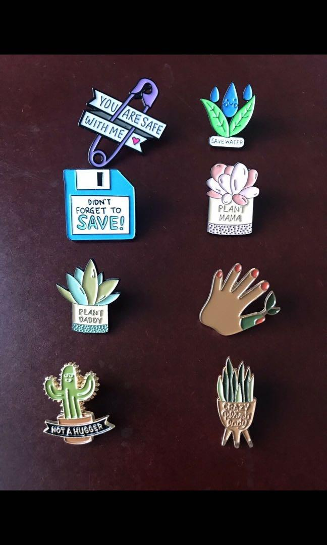 New,  various style pins