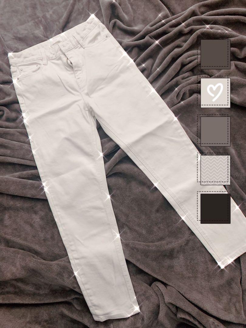 Oak + Fort White Pants (Sz 26)