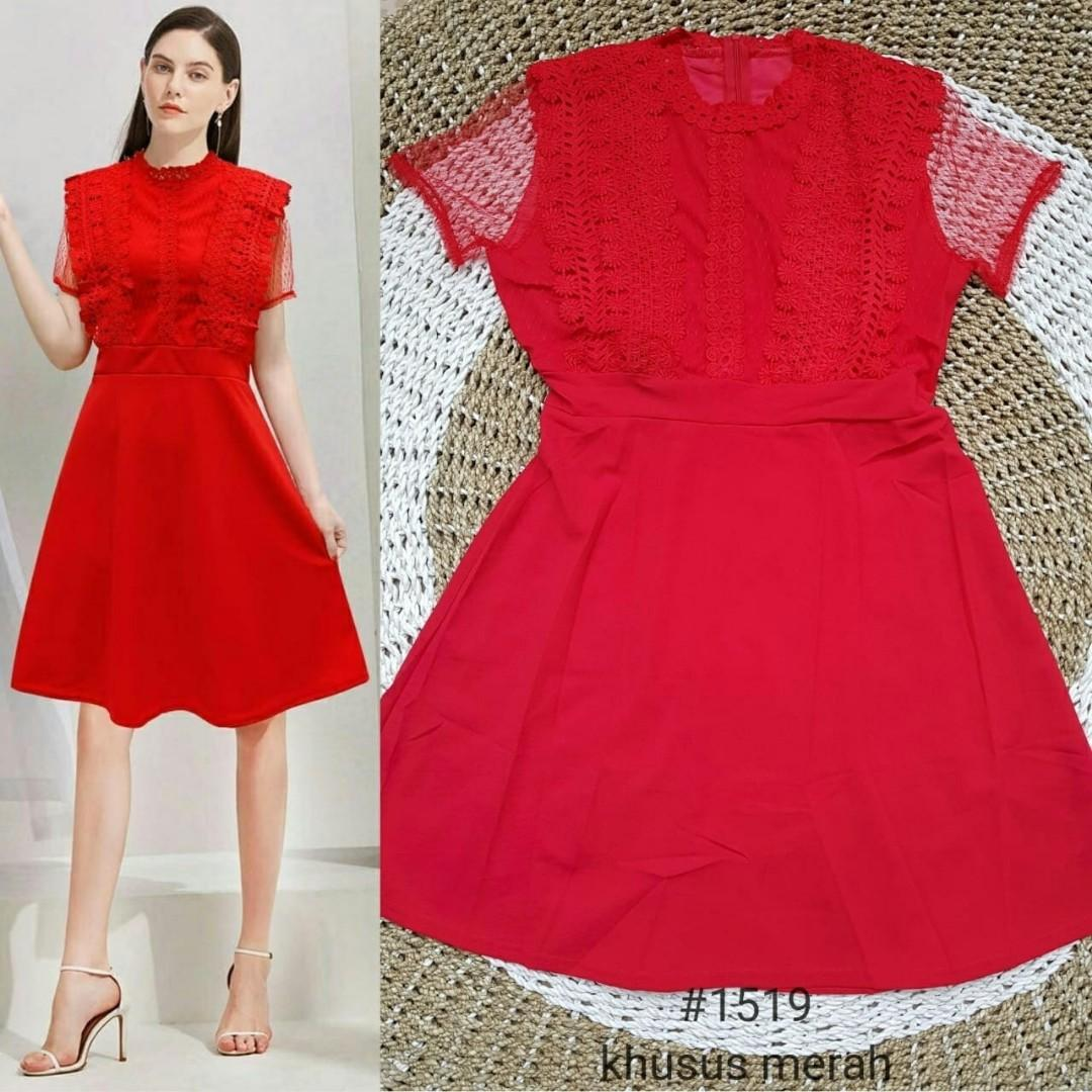 ##sm red dress import 1519
