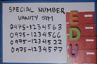 Special number vanity sim 097512345 series tm globe sim card