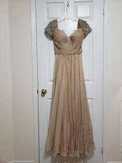 Stunning Champagne Evening Gown