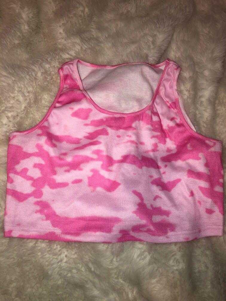 Tie-dye crop tank top