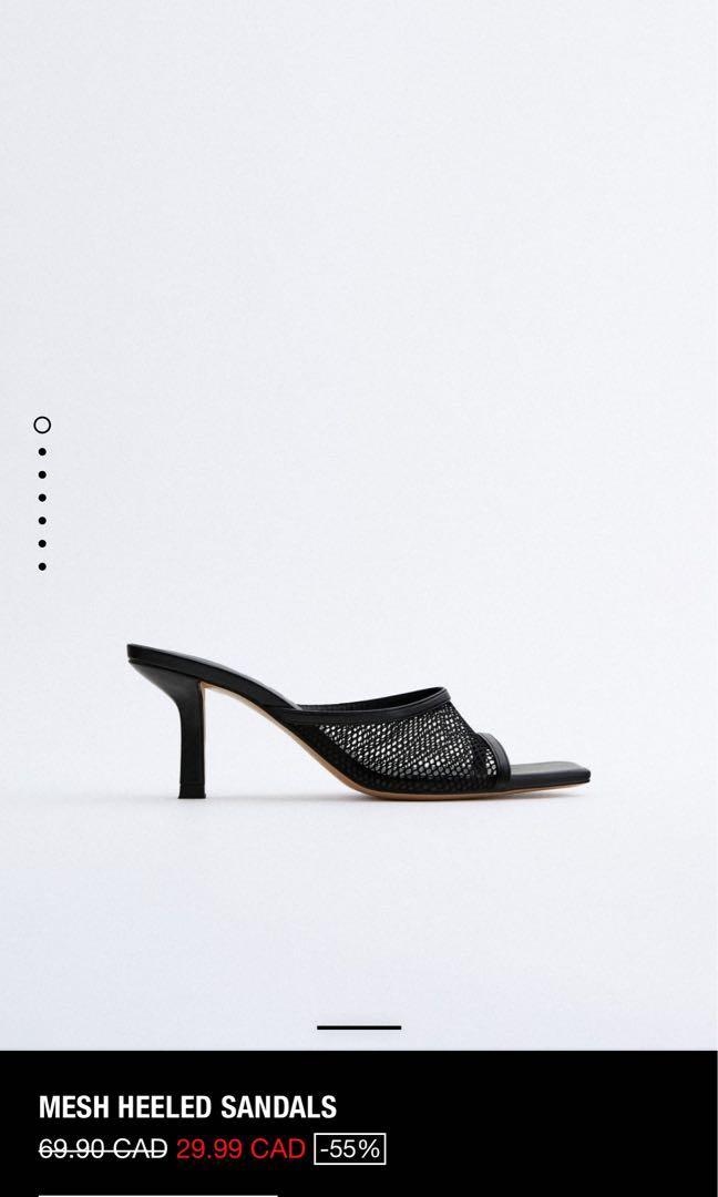ZARA Mesh Heeled Sandals