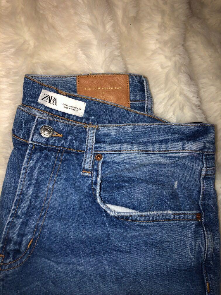 Zara slim boyfriend jeans.