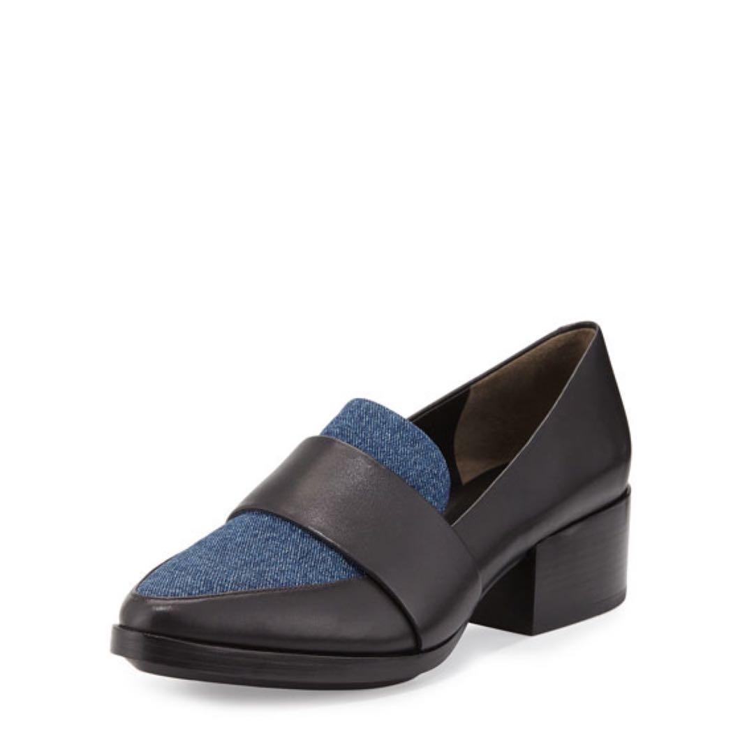 3.1 Phillip Lim QUINN Denim & Leather Loafer