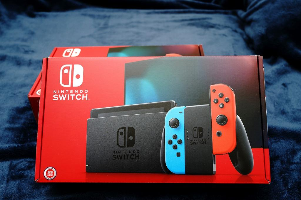 [售] 全新 Nintendo Switch 主機 電池加強版 (紅藍) (台灣公司貨) 加送玻璃保護貼