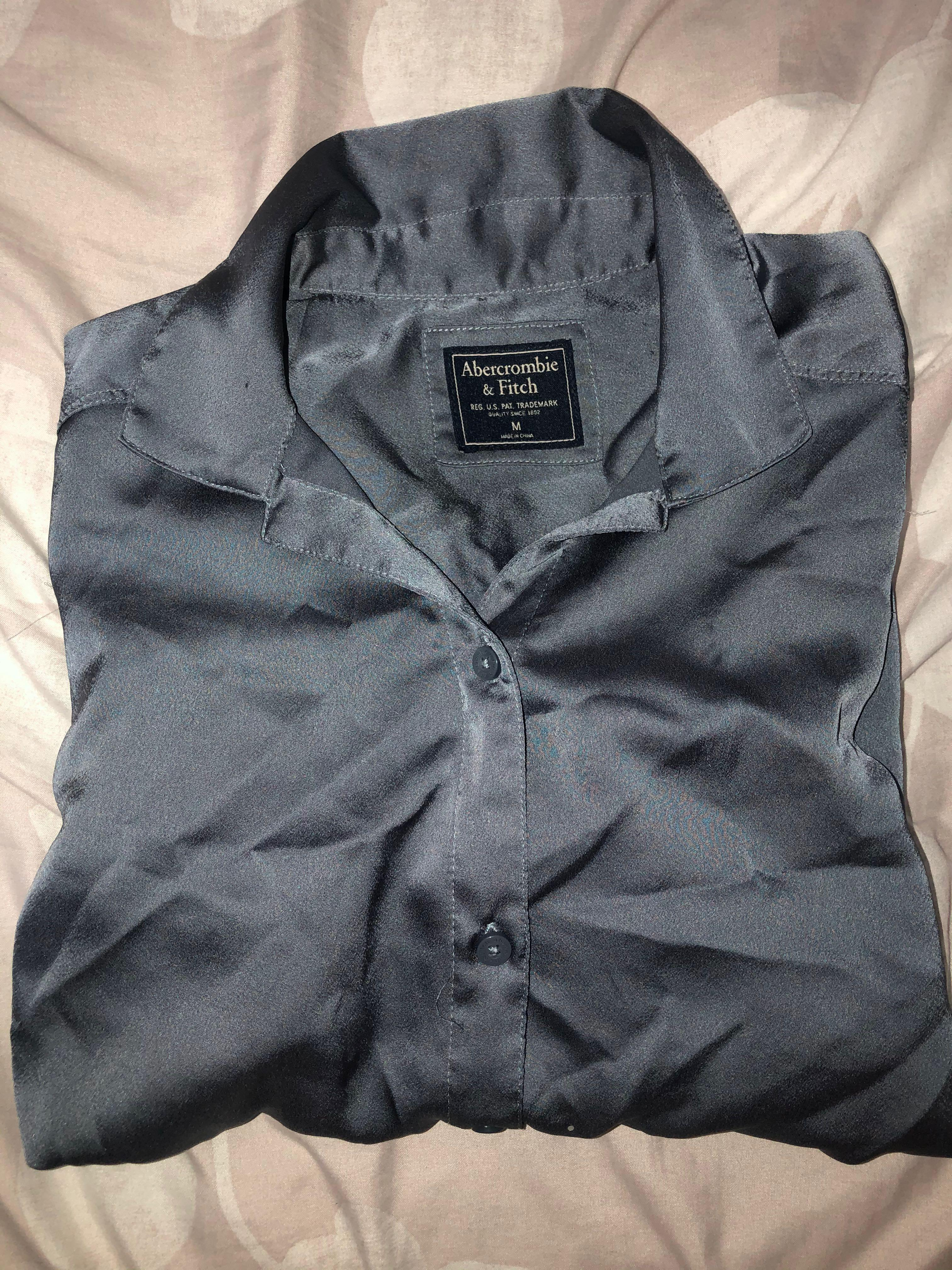 Abercrombie & Fitch satin button up