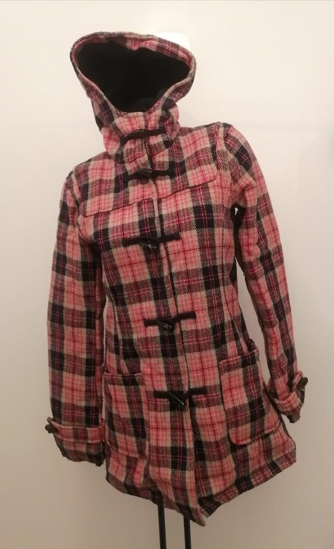Bluenotes Pink/Black Plaid Coat