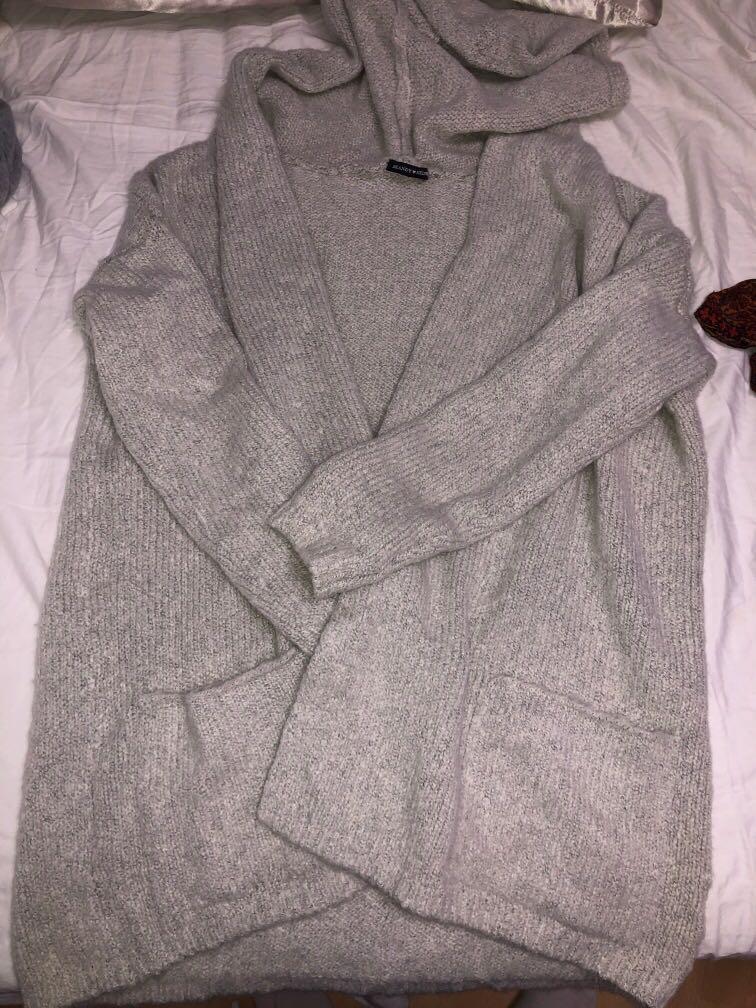 Brandy Melville hooded cardigan