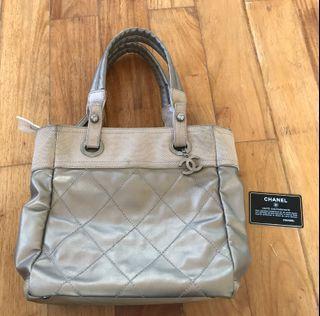 Chanel Gold Paris Biarritz Tote Bag