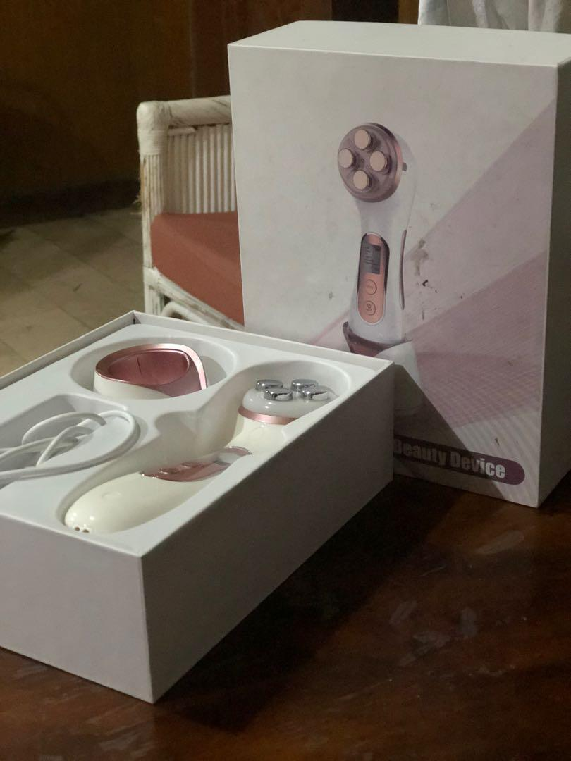 Face Skin EMS Mesotherapy Electroporation RF Radio Frequency Facial LED Photon Skin Care Beauty Machine