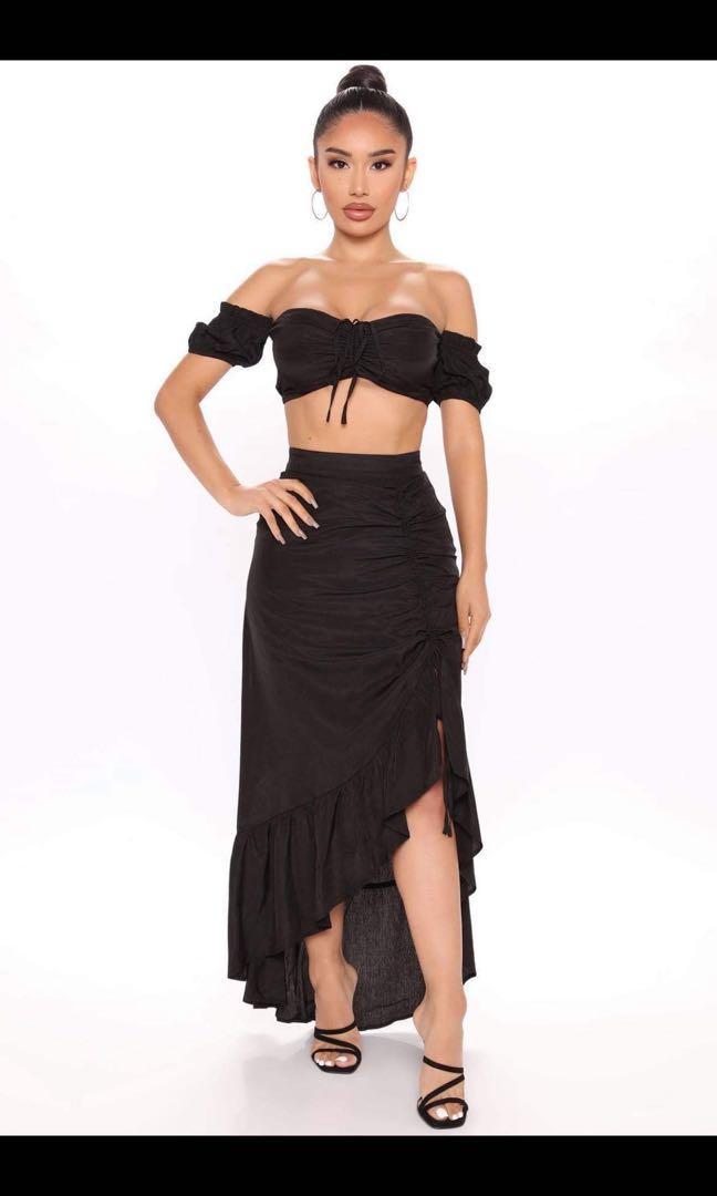 Fashion nova for you always skirt set