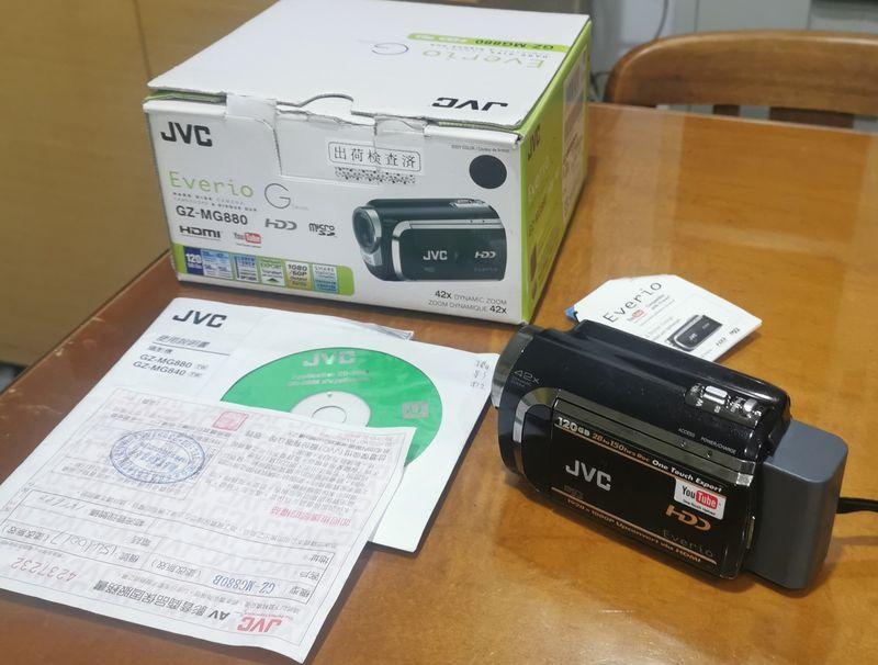 只拆封試機/JVC (120GB)數位多媒體攝影機