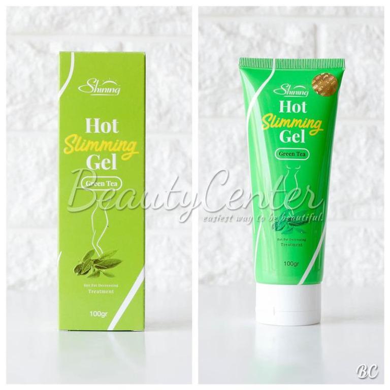 Obat Pelangsing Shining Slimming Hot Gel Green Tea / 100gr