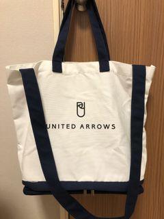 United Arrows  肩背兩用帆布托特包
