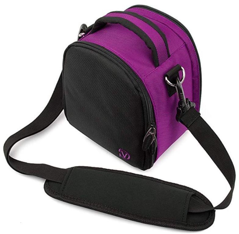 VanGoddy Laurel camera carrying bag (Purple colour)