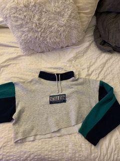 Vintage Crop Long Sleeve Sweater
