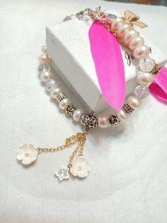 素雅珍珠手鏈(淡水珍珠)