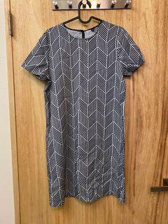全新 60 70年代 普普風 幾何圖形 直筒洋裝