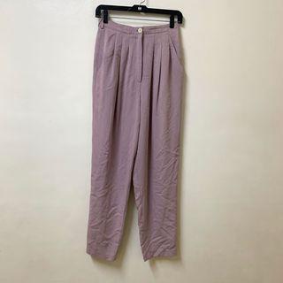 古著  紫藕色 西裝長褲