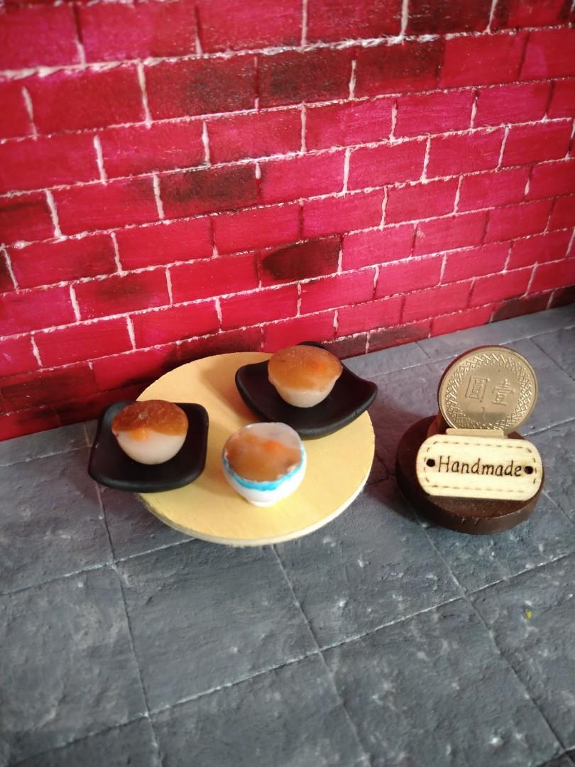 袖珍版 傳統台式食物 迷你碗粿 適合擺設 收藏 兩款造型可任選