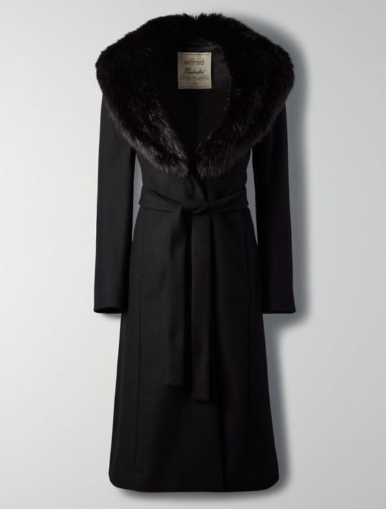 Aritzia Wilfred waldorf black coat