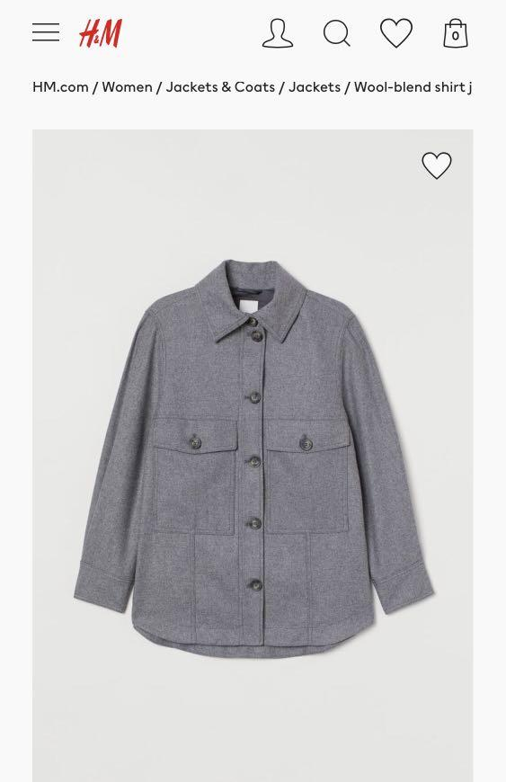 Brand new with tags H&M shacket