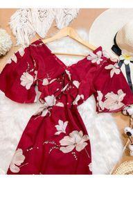 Floral Maxi Dress with Side Slit
