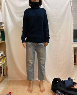 GU 深藍高領毛衣