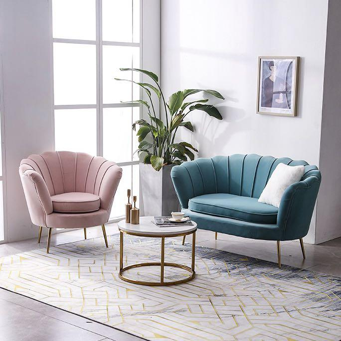 Nordic Sofa 2 Seater 3 Seater Armchair Lounge Luxury Modern Furniture Sofas On Carousell
