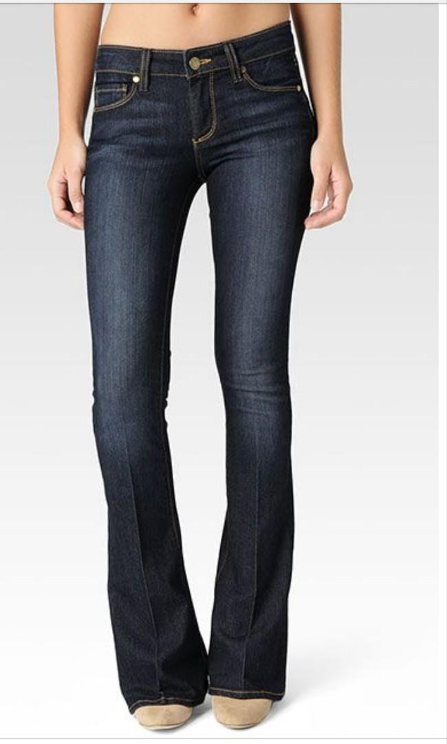PAIGE Skinny Flare Mid Rise - Size 25/26